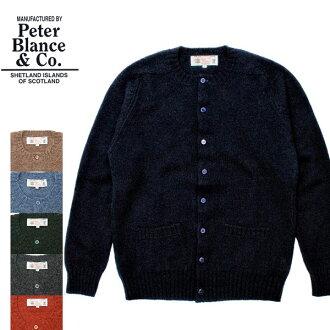 苏格兰制造PETER BLANCE圆领Schett大地对襟毛衣自行车座肩膀毛衣人(男性用)