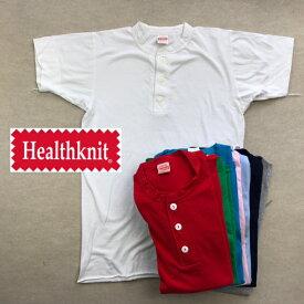 2点購入で送料無料 HEALTH KNIT 【ヘルス ニット】 906S 半袖 ヘンリーネックTシャツ メンズ(男性用)