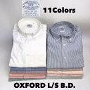 ベストセラー 送料無料 BAGGY 【バギー】 長袖 カラー オックスフォードシャツ ボタンダウンシャツ 長袖シャツ大きいサイズ メンズ(男…