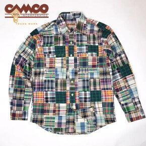 送料無料CAMCO【カムコ】長袖パッチワークマドラスチェックシャツワークシャツメンズ【smtb-m】