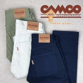 送料無料CAMCO【カムコ】5ポケットカラーピケパンツメンズ(男性用)【smtb-m】