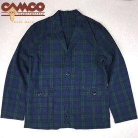 送料無料 CAMCO【カムコ】PLAID 3B JKT ブラックワッチ リネンコットン テーラード ジャケット メンズ(男性用) 【smtb-m】