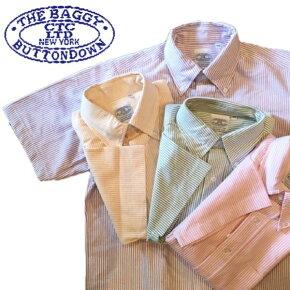 送料無料BAGGY【バギー】半袖ストライプカラーオックスフォードシャツボタンダウンシャツ半袖シャツ大きいサイズ対応メンズ(男性用)【smtb-m】