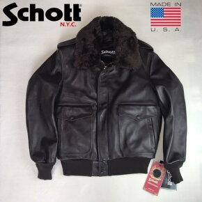 アメリカ製送料無料SCHOTT【ショット】184SMA-2レザーフライトジャケット