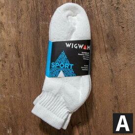アメリカ製 3点購入で送料無料 WIGWAM【ウィグワム】 S1168 Quarter 3足パック ソックス Mサイズ 23cm〜27.5cm対応 メンズ(男性用)