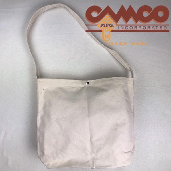 サービス品 CAMCO【カムコ】無地 コットンキャンバス メールバッグ ショルダーバッグ メンズ レディース (男女兼用)