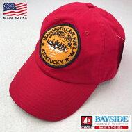 2点購入で送料無料アメリカ製BAYSIDE【ベイサイド】【MAMMOTH.C】EMBLEMCAPベースボールキャップ帽子メンズ(男性用)