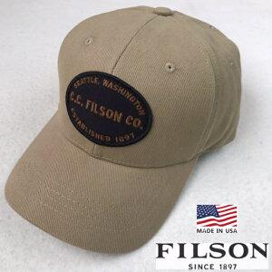 アメリカ製送料無料FILSON【フィルソン】TWILLCAPコットンツイルロガーキャップUSA6パネル帽子メンズ(男性用)【smtb-m】