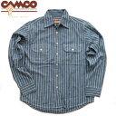 送料無料 CAMCO【カムコ】2 RAILROAD ST. L/S 長袖 レイルロードストライプ シャンブレーシャツ ワークシャツ フラッ…