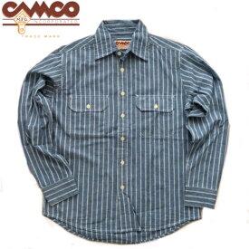 送料無料 CAMCO【カムコ】2 RAILROAD ST. L/S 長袖 レイルロードストライプ シャンブレーシャツ ワークシャツ フラップポケット仕様 S-LL(XL) 長袖シャツ アメカジ メンズ(男性用)【smtb-m】