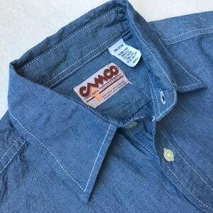 送料無料CAMCO【カムコ】2WORKL/S長袖シャンブレーシャツワークシャツフラップポケット仕様S-LL(XL)長袖シャツアメカジメンズ(男性用)【smtb-m】