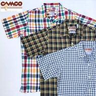 送料無料CAMCO【カムコ】2MADRASOPENS/S半袖マドラスチェックオープンカラーシャツメンズ(男性用)【smtb-m】