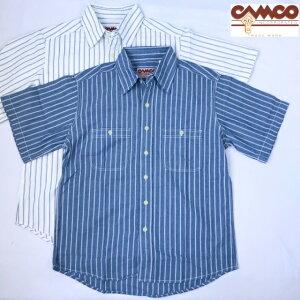 送料無料CAMCO【カムコ】2WORKS/S半袖シャンブレーシャツワークシャツ半袖シャツアメカジメンズ(男性用)【smtb-m】