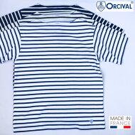 フランス製送料無料ORCIVAL【オーシバル(オーチバル)】BOATNECKS/S半袖ボートネックバスクシャツメンズ【smtb-m】