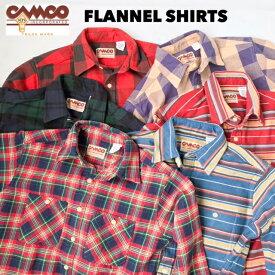送料無料 CAMCO【カムコ】2020 2 FLANNEL L/S ダブルフェイス ヘビー フランネルシャツ ネルシャツ 長袖シャツ XS-LL(XL) メンズ(男性用)【smtb-m】