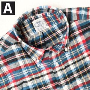 送料無料BAGGY【バギー】2LT.FLANNELB.DL/Sボタンダウンライトフランネルシャツ