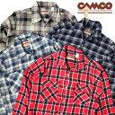 送料無料 CAMCO【カムコ】2 LT.FLANNEL OPEN L/S 長袖 ライトフランネル オープンカラー シャツ メンズ(男性用)【smtb…