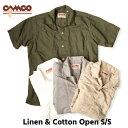 送料無料 CAMCO【カムコ】2 L/C OPEN S/S 半袖 リネンコットン オープンカラー シャツ メンズ(男性用) 【smtb-m】