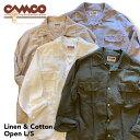 送料無料 CAMCO【カムコ】2 L/C OPEN L/S 長袖 リネンコットン オープンカラー シャツ メンズ(男性用) 【smtb-m】