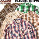 送料無料 CAMCO【カムコ】2 FLANNEL L/S 厚手 ヘビーウェイト フランネルシャツ ネルシャツ チェックシャツ 長袖シャ…