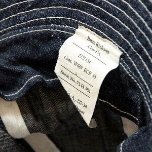 送料無料BUZZRICKSON'S【バズリクソンズ】ウォッシュドデニムハット帽子メンズ(男性用)【smtb-m】