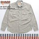 送料無料 CAMCO【カムコ】 長袖 ヒッコリーストライプ ワークシャツ 長袖シャツ メンズ(男性用)【smtb-m】
