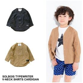 【SALE】【2019SS SOLBOIS ソルボワ】タイプライター Vネックカーディガン  130-150