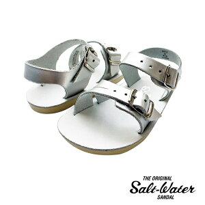 《SALT WATER/ソルトウォーター》seawee premium silver ベビーサンダル 11.5-12cm サンダル キッズ ソルトウォーター キッズサンダル スポーツサンダル