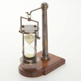 オーセンティックモデルズ スタンド付き砂時計 30分 / 砂時計 タイマー 置き時計 スタンド付き インテリア 小物 輸入雑貨 おしゃれ ギフト プレゼント アンティーク スタイル AuthenticModels