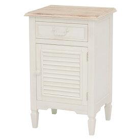 サイドチェスト / ブロカント BROCANTE シャビー アンティーク かわいい 白家具メゾン・ド・マルシェ