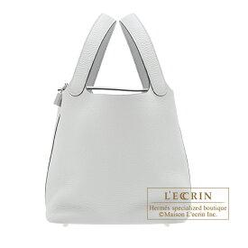 エルメス ピコタンロックMM ブルーペール トリヨンクレマンス シルバー金具 HERMES Picotin Lock bag MM Blue pale Clemence leather Silver hardware