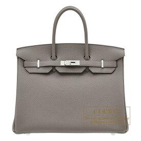 エルメス バーキン35 エタン トゴ シルバー金具 HERMES Birkin bag 35 Etain Togo leather Silver hardware