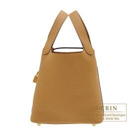 エルメス ピコタンロックPM ビスキュイ トリヨンクレマンス ゴールド金具 HERMES Picotin Lock bag PM Biscuit Clemence leather Gold hardware