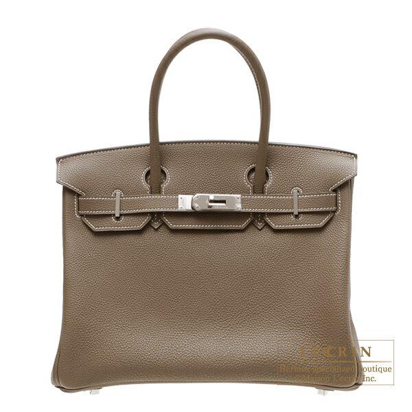 エルメス バーキン30 エトゥープ トゴ シルバー金具 HERMES Birkin bag 30 Etoupe grey Togo leather Silver hardware