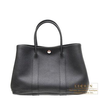 에르메스 가든 파티 TPM 블랙 ネゴンダ Hermes Garden Party bag TPM Black Negonda leather