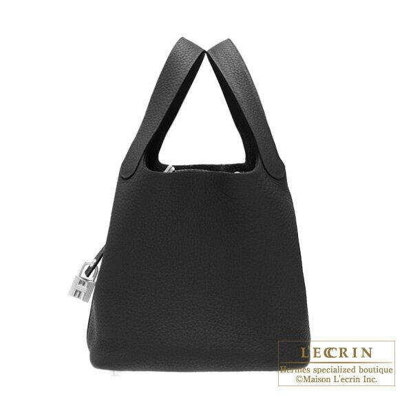 エルメス ピコタンロックPM ブラック トリヨンクレマンス シルバー金具 HERMES Picotin Lock bag PM Black Clemence leather Silver hardware