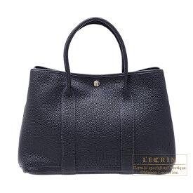 エルメス ガーデンパーティPM ブルーインディゴ ネゴンダ シルバー金具 HERMES Garden Party bag PM Blue indigo Negonda leather Silver hardware