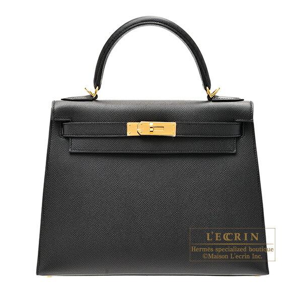 エルメス ケリー28/外縫い ブラック ヴォーエプソン ゴールド金具 HERMES Kelly bag 28 Sellier Black Epsom leather Gold hardware