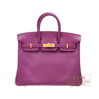 erumesubakin 25 anemonesuifutogorudo金屬零件HERMES Birkin bag 25 Anemone Swift leather Gold hardware