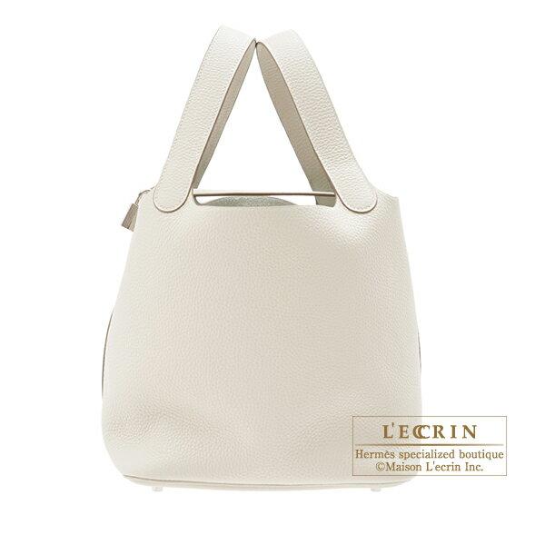 エルメス ピコタンロックMM クレ トリヨンクレマンス シルバー金具 HERMES Picotin Lock bag MM Craie Clemence leather Silver hardware