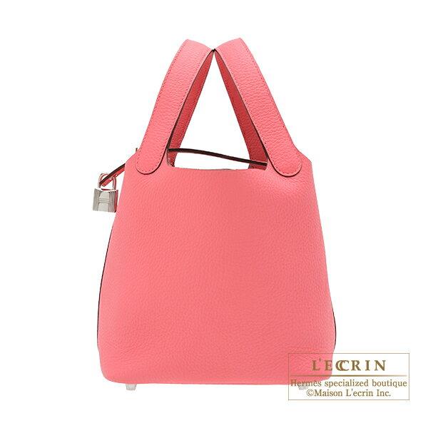 エルメス ピコタンロックPM ローズアザレ トリヨンクレマンス シルバー金具 HERMES Picotin Lock bag PM Rose azalee Clemence leather Silver hardware