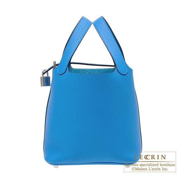 エルメス ピコタンロックPM ブルーザンジバル トリヨンクレマンス シルバー金具 HERMES Picotin Lock bag PM Blue zanzibar Clemence leather Silver hardware