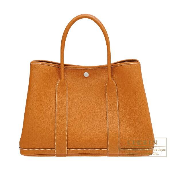 エルメス ガーデンパーティPM トフィ ネゴンダ シルバー金具 HERMES Garden Party bag PM Toffee Negonda leather Silver hardware