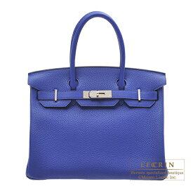 エルメス バーキン30 ブルーエレクトリック トリヨンクレマンス シルバー金具 HERMES Birkin bag 30 Blue electric Clemence leather Silver hardware