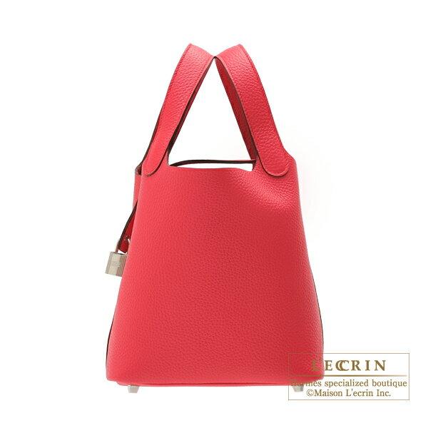 エルメス ピコタンロックPM ローズエクストリーム トリヨンクレマンス シルバー金具 HERMES Picotin Lock bag PM Rose extreme Clemence leather Silver hardware