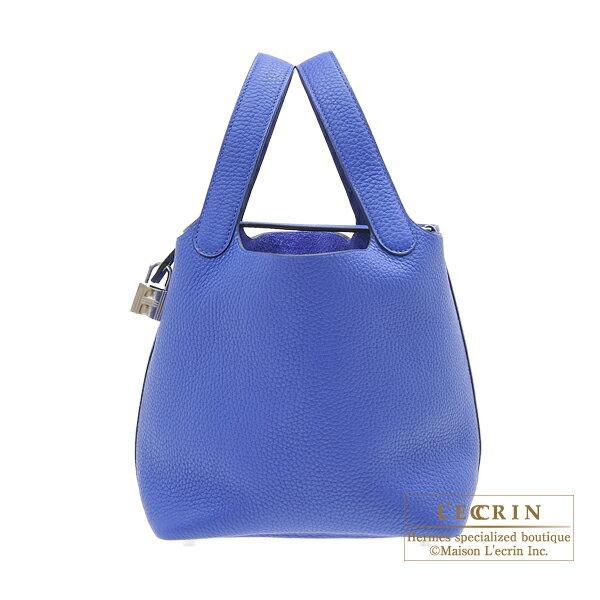 エルメス ピコタンロックPM ブルーエレクトリック トリヨンクレマンス シルバー金具 HERMES Picotin Lock bag PM Blue electric Clemence leather Silver hardware