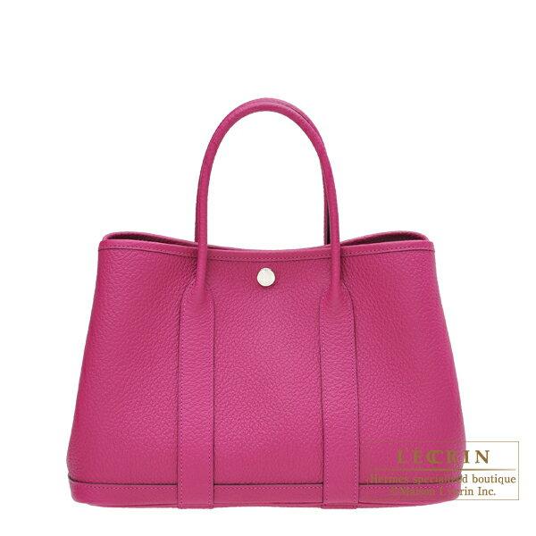 エルメス ガーデンパーティTPM ローズパープル カントリー シルバー金具 HERMES Garden Party bag TPM Rose purple Country leather Silver hardware