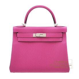 エルメス ケリー28/内縫い ローズパープル トゴ シルバー金具 HERMES Kelly bag 28 Retourne Rose purple Togo leather Silver hardware