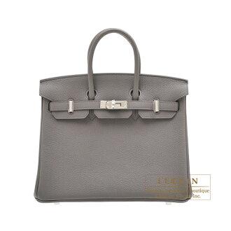 erumesubakin 25 etantogoshiruba金屬零件HERMES Birkin bag 25 Etain Togo leather Silver hardware