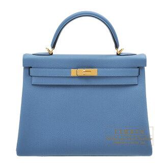 Lecrin Boutique Tokyo  Hermes Kelly bag 32 Retourne Azur Togo ... c33929f7e